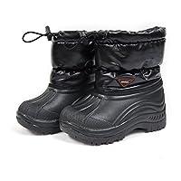 [ショック] SHOCK キッズ ブーツ 9153 スノーブーツ ウィンターブーツ 長靴 ジュニア レディース 女の子 男の子 子供 通園 通学 01/BLACK