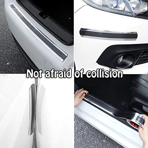 HENGJIA Door Guard Bumper, Auto Parts Car Door sill, Rear Bumper Guard Rubber and Rear Guard Bumper Protector,Front and Rear Doors Enter The sill Guards for wear and Scratches Two-tone black silver