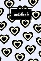 """Cream & black heart lilac notebook: novelty notebook 6""""x9"""""""