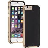 【デュアルレイヤースリム】 Case-Mate 日本正規品 iPhone6s / iPhone6 4.7 inch 両対応 Slim Tough Case, Black / Gold スリム タフ ケース ブラック / ゴールド CM031465