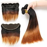 女性ブラジルのストレートヘアバージンヘアクロージャーフリーパート3バンドル100%未処理レミー人間の毛延長,12+14+16inch