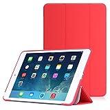 iPad Mini 3 /2 /1 ケース - ATiC Apple iPad Mini3 (2014)/ Mini2 (2013)/ Mini (2012)タブレット専用開閉式三つ折薄型スタンドケース。 RED (オートスリープ機能付き)(iPad mini 4に適応ない)