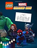 Lego Marvel Coloring Book: Funny Coloring Books with 50+ Superhero Illustration for Children Boys & Girls Kids Ages 4-12