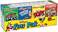 【Kellogg's】ケロッグ 朝食用シリアル ファンパック 1食分×8箱セット 並行輸入商品