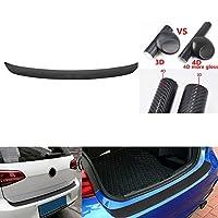 FidgetGear 1Pc Car Rear Bumper Tail Lip Protection Auto Trunk Sticker Trims 4D Carbon Fiber