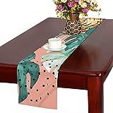 LKCDNG テーブルランナー 美しい花 かわいい動物 クロス 食卓カバー 麻綿製 欧米 おしゃれ 16 Inch X 72 Inch (40cm X 182cm) キッチン ダイニング ホーム デコレーション モダン リビング 洗える