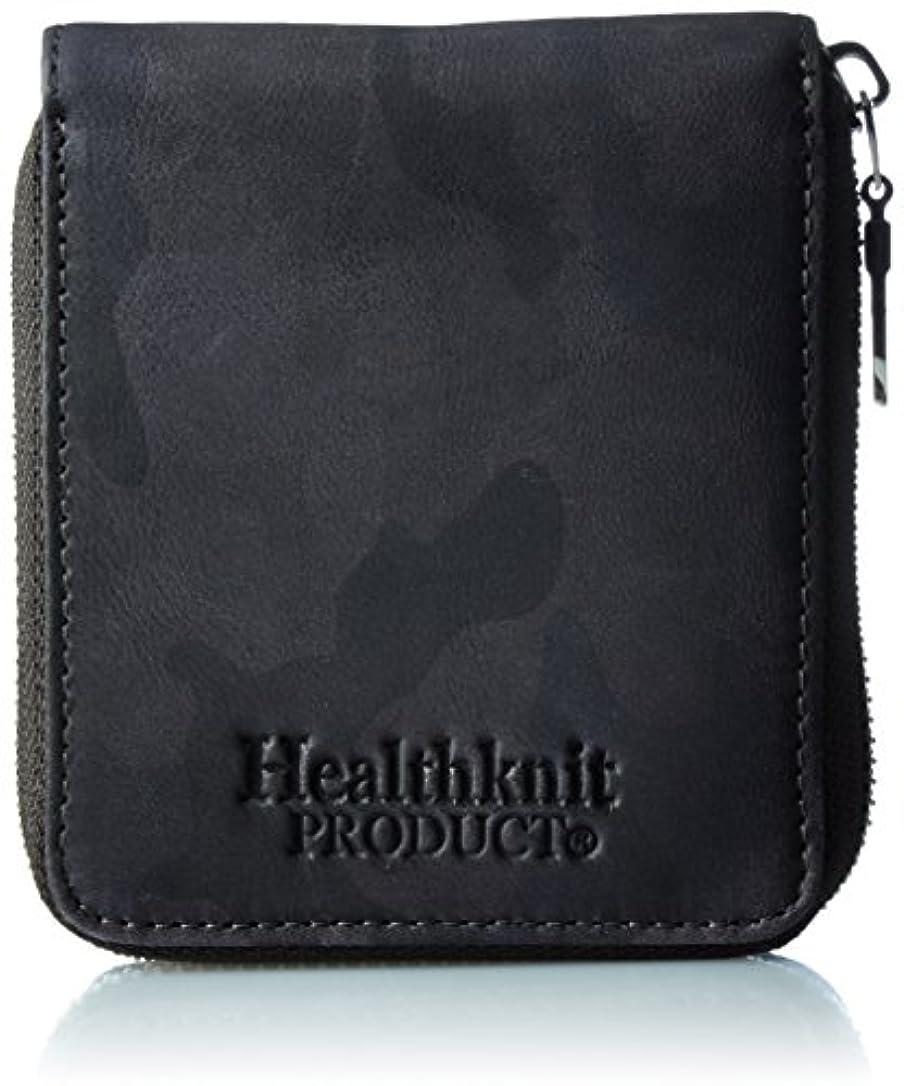 変な巨大ホール[ヘルスニット] Healthknit Healthknit ヘルスニット カモフラージュ ラウンドファスナー二つ折り札入れ