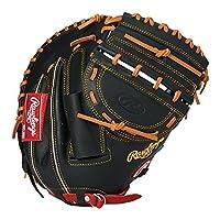 ローリングス(Rawlings) ソフトボール用 ソフト HYPER TECH DP カラーズ[キャッチャー用] GS8FHTC23F ブラック/レッド [ミットサイズ 33.0] [33inch] LH(Right hand throw)※右投用