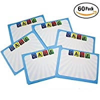 Retail Genius Sale Price Tag 60 Large Sign Value Pack. Big 5x7 Display Tags Boost Business. Durable Easy to Write On Cards Are Perfect for Yard Estate & Garage Sales Fundraiser Store & Flea Market [並行輸入品]