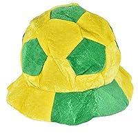 2018ワールドカップファンパーティー フットボールシェイプハットサッカーマッチ応援ツールアクセサリー,調整可能なサッカー サポーター ボール型ハット 応援道具 (ブラジル)