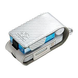 アイコス専用ケース FLAMINGO iQOS case Carbon-Silver