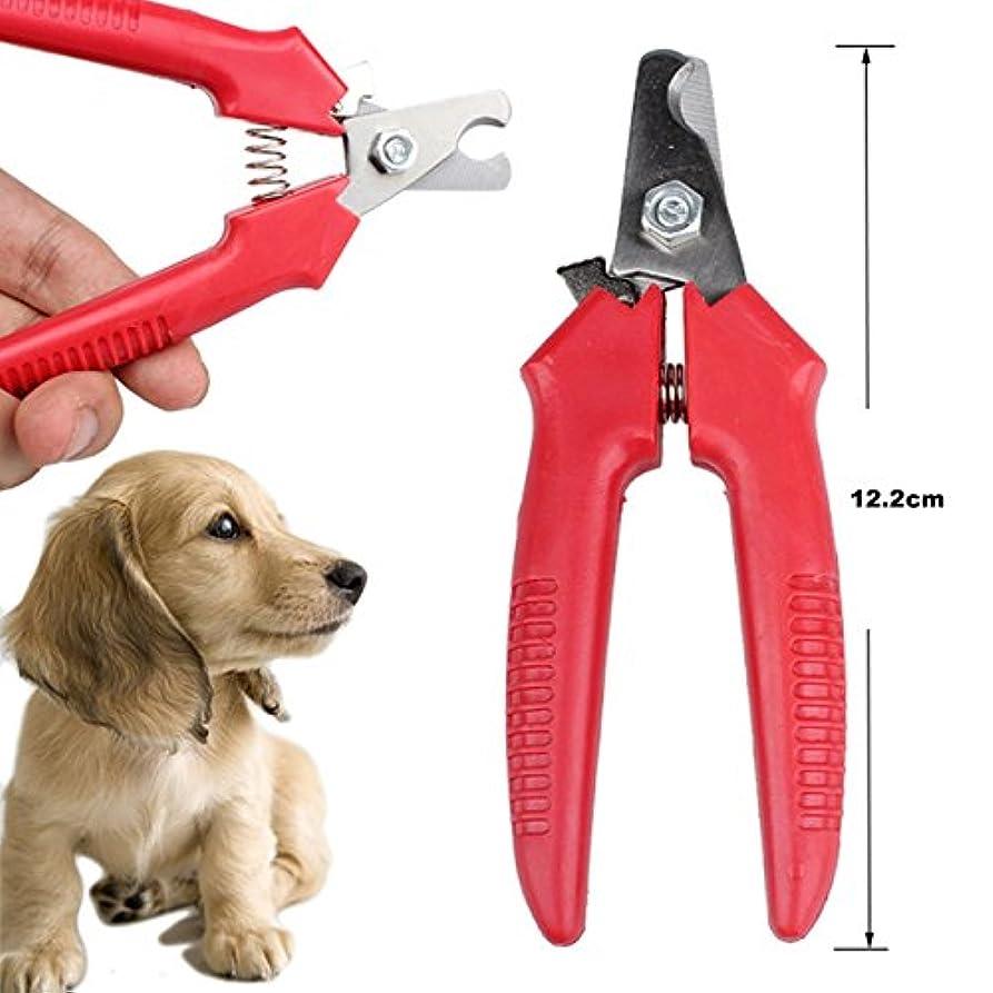 過敏な温度計憎しみ1 個 赤 新品 格安 ペット 動物 犬 猫 爪 バリカン はさみ ペット つま先 ケア 爪 の 手入れ トリマー クリッパー ステンレス 鋼