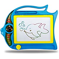 Hbos Doodle Magnetic Drawing Board旅行カラフルな子供の手書きスケッチパッド、非毒性素材製