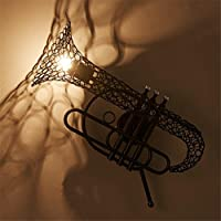 ヴィンテージSaxophone錬鉄壁ランプバーカフェL風レストラン廊下壁ランプ