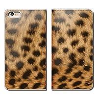 (ティアラ) Tiara iPhone6s (4.7) iPhone6s スマホケース 手帳型 ベルトなし ガールズ ヒョウ柄 アニマル 豹 手帳ケース カバー バンドなし マグネット式 バンドレス EB084010083101