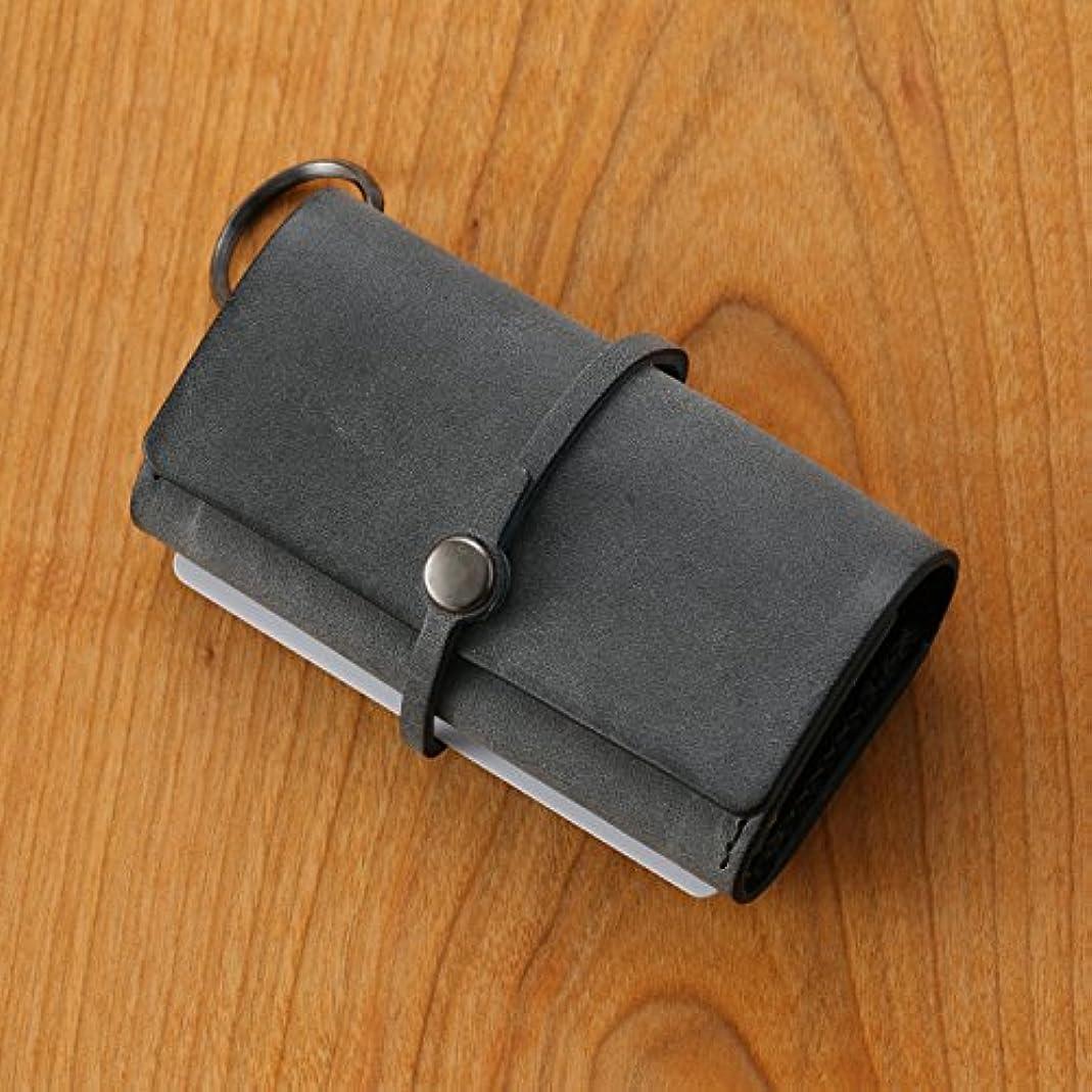 孤独虚偽衝突コースsafuji/キー付きミニ財布 グレイブラック