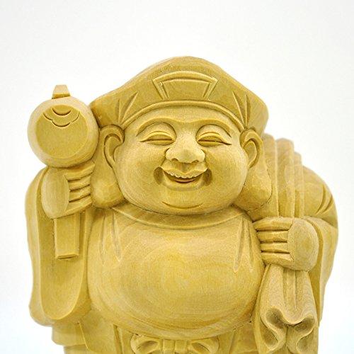 木彫り仏像 開運招福 【大黒天】 柘植(ツゲ) 立1.8寸 【五穀豊穣・商売繁盛】