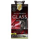 Simplism iPhone 7/6s/6 反射防止 フレーム ガラス フィルム ブラック TR-GLIP164-GOFMAGBK