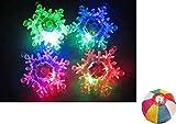 【光る玩具】フラッシュクリスタルスノーペンダント36入 / お楽しみグッズ(紙風船)付きセット [おもちゃ&ホビー]