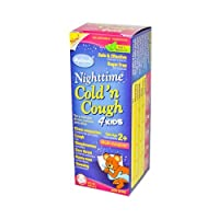 Hylands Nighttime Cold and Cough Liquid 4 Kids, 4 Ounce - 2 per case.