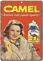 Camel Cigarette Mild Flavorful Tobacco ティンサイン ポスター ン サイン プレート ブリキ看板 ホーム バーために