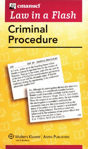 Download Criminal Procedure (Law in a Flash Cards) 0735563608