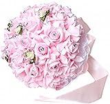 Amazon.co.jp美しい花嫁 ウエディング ブーケ ( フラワーシャワー 付 ) ブライダル ブーケ ピンク 花束
