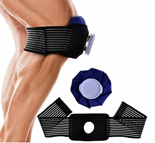 [Rajjo]アイシング サポーター セット アイスバッグ アイシング用 ラップ 氷嚢 スポーツ 肘 膝 足首 (サポーター・氷のうM1個)