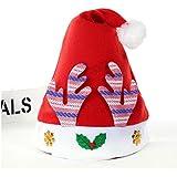 HuaQingPiJu-JP クリスマス用品ピンクアントラーズクリスマスハットfor Children_Red