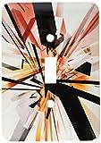 3drose LLC lsp _ 19425_ 1Tangled長方形1抽象幾何デジタルアート地球トーン色単一の切り替えスイッチ