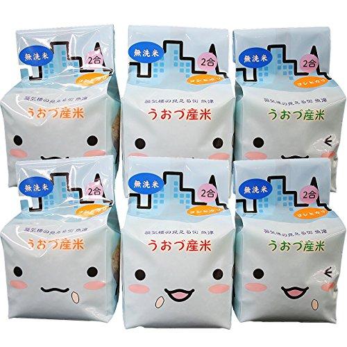 【精米】無洗米 JAうおづ産コシヒカリ ご当地キャラクターミラたんの「キューブ米」1.8kg (2合袋:300g×6個) 令和元年度産