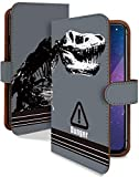Xperia X Compact SO-02J ケース 手帳型 ティラノサウルス グレー 動物 恐竜 ダイナソー スマホケース エクスペリア コンパクト 手帳 カバー XperiaXCompact so02j so02jケース so02jカバー 骨 化石 リアル かっこいい 恐竜柄 [ティラノサウルス グレー/t0520b]