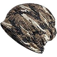 KISSTYLE 迷彩 ニット帽 薄手 コットン調 ミリタリー カモフラージュ 男女兼用 医療用 帽子
