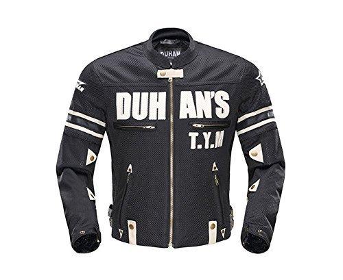 DUHAN(ドゥーハン) バイクジャケット ライディングジャケット XLサイズ ブラック 3シーズン 春夏秋用 B01JRNSJYO 1枚目