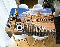 ラウンドテーブルクロス 長方形のテーブルクロス - 3DランドスケープシリーズテーブルクロスMT13-環境にやさしい、そして無味 - デジタル印刷された防水 テーブルクロス (サイズ さいず : Square 178cmx178cm)