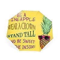 折りたたみ傘パイナップルになる 自動開閉式 晴雨兼用 風に強い 梅雨対策 8本傘骨 メンズ傘 遮光 遮熱 収納ポーチ付き