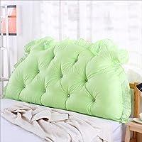 BZKD 背部のクッションのソファベッド大の充満したダブルベッドルームのベッド背もたれの枕の読書用の枕オフィス腰のパッドの取り外し可能なカバー (色 : A, サイズ さいず : 135*70cm)