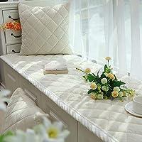 出窓クッション,ベイ ・ ウィンドウ マット 窓枠パッド バルコニー マット 畳床窓マット シンプルな現代洗濯機の窓の装飾-ホワイト 90*180cm