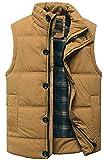 HONTA 中綿ジャケット ベスト メンズ 超軽量 防寒 暖かい 秋 冬 袖 なし ダウン ジャケットフード付き 秋冬 アウトドアウェア