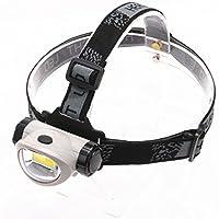 Arichtop 乗馬登山ハイキングのための屋外照明バッテリープラスチック製COBヘッドライト