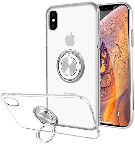 iPhone xsmax ケース リング付き 透明 TPU ...