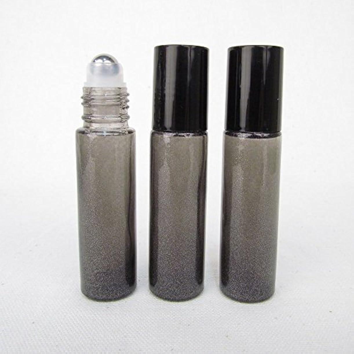 ティーム乳白色蓋Set of 3 Granite Gray Color 10ml Roll on Bottle with Stainless Steel Ball for Essential Oil Products by Rivertree...
