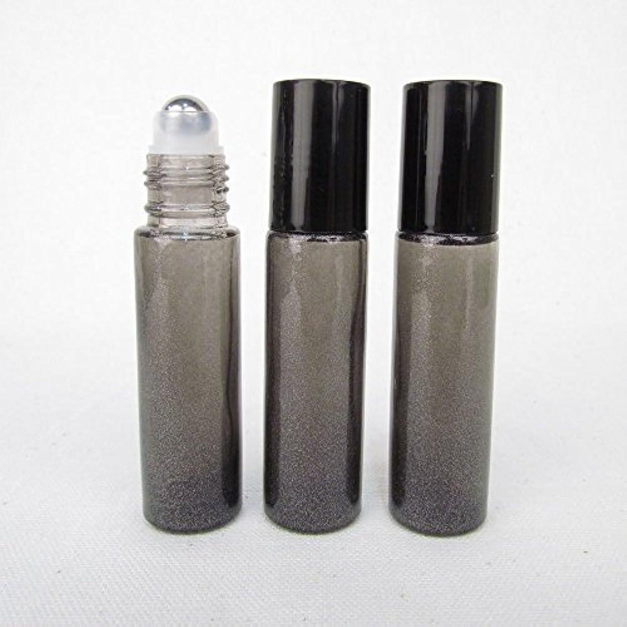 うなずく冒険家インクSet of 3 Granite Gray Color 10ml Roll on Bottle with Stainless Steel Ball for Essential Oil Products by Rivertree...