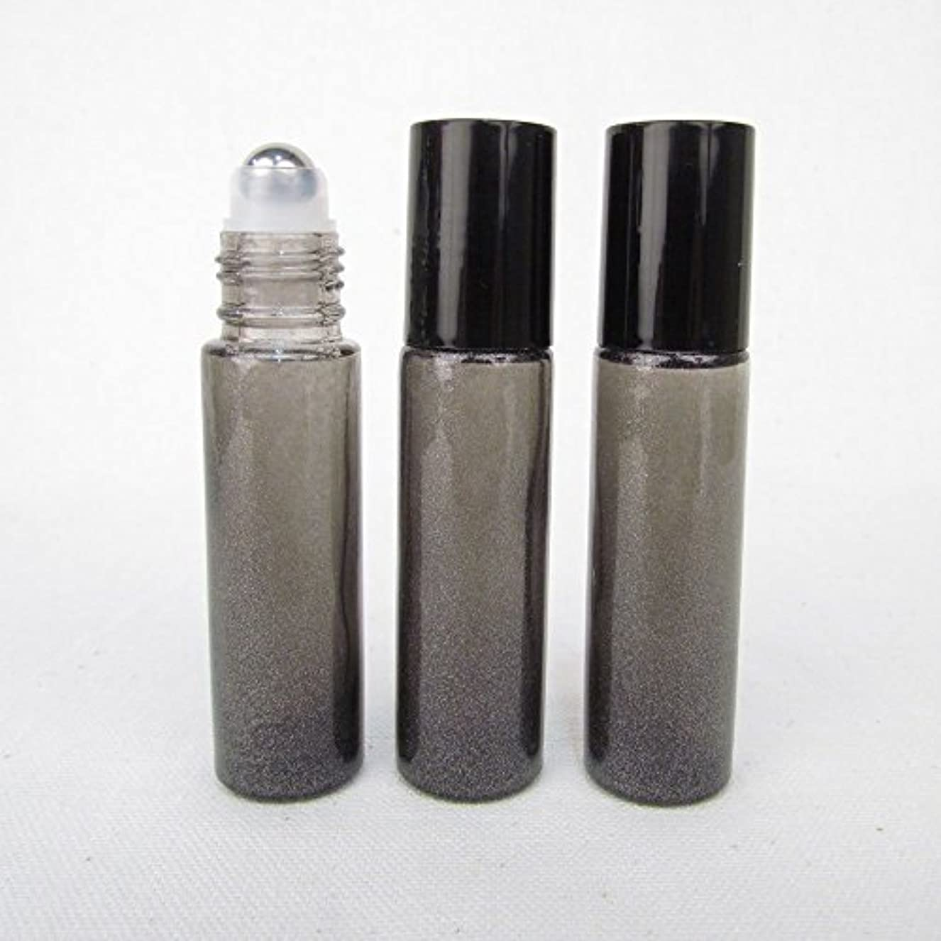 入学する南極系譜Set of 3 Granite Gray Color 10ml Roll on Bottle with Stainless Steel Ball for Essential Oil Products by Rivertree...