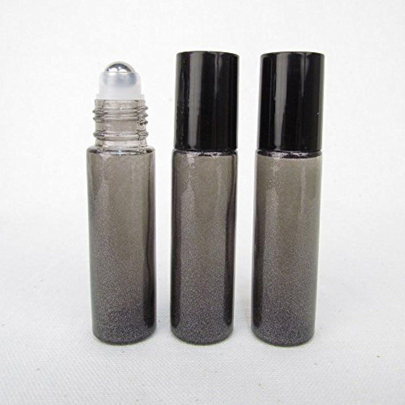 男家主毛布Set of 3 Granite Gray Color 10ml Roll on Bottle with Stainless Steel Ball for Essential Oil Products by Rivertree...