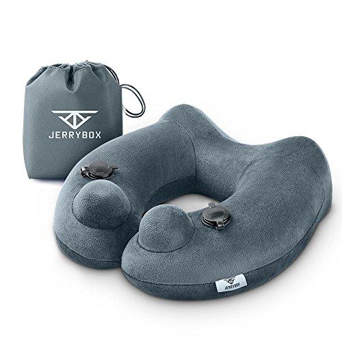 Jerrybox ネックピロー 旅行 便利グッズ エア枕 トラベル枕 首枕 003 (グレー)