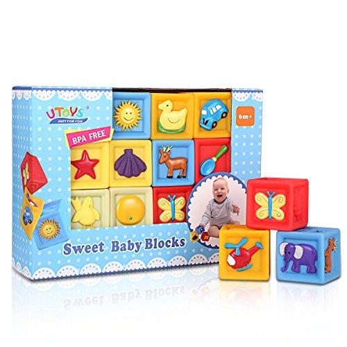 Bemixc 音の出る積み木 赤ちゃんおもちゃ 想像力を育つ知育玩具 おままごと10pcs 出産お祝い お誕生プ...