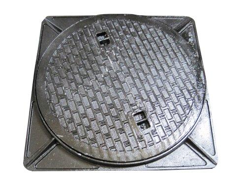 鋳鉄製マンホール(普及型) 乗用車荷重マンホール 蓋+枠セット フタ径495mm 穴径450mm MK-1-450