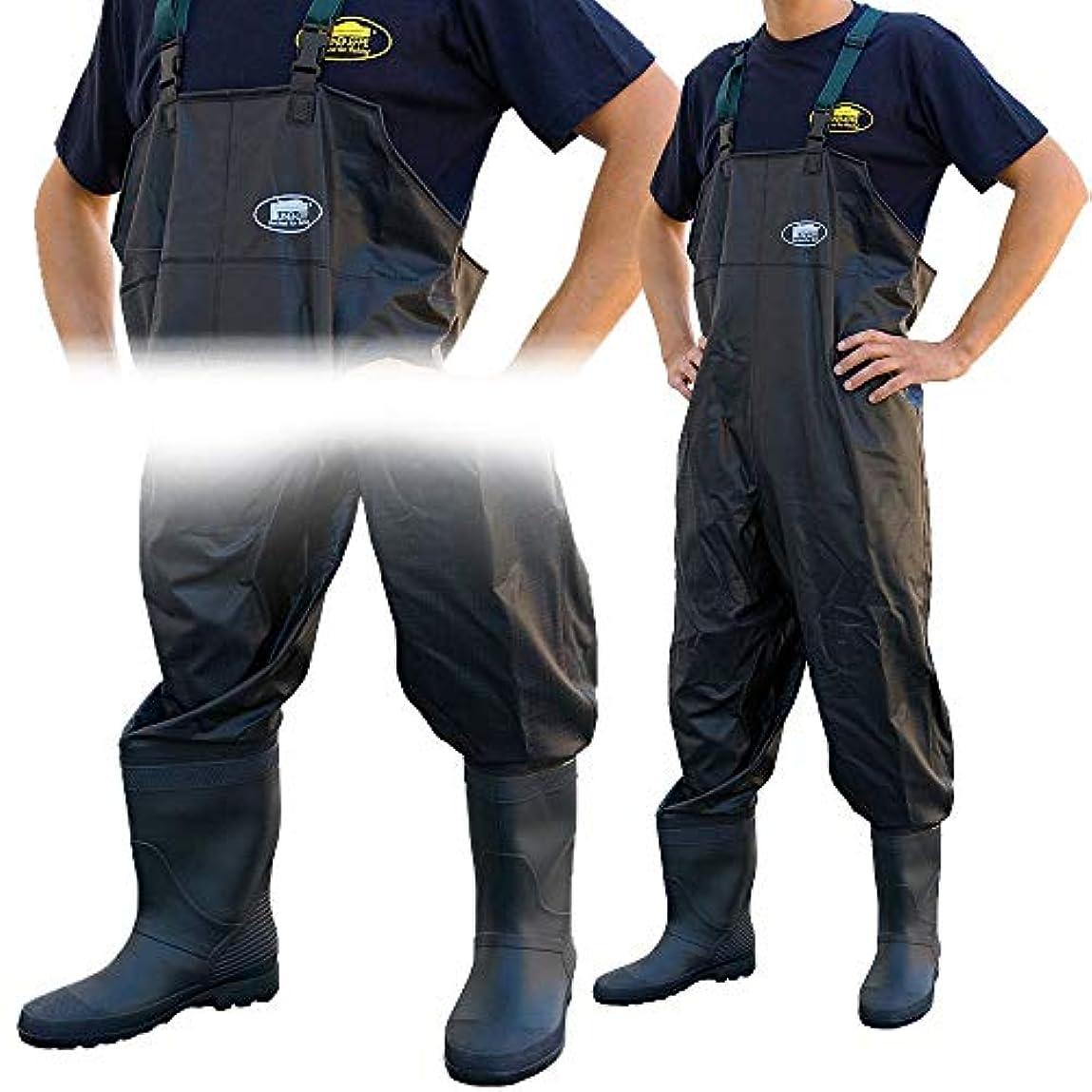 トリクルクレーン機会LineaeffeブラックAll Weather PVC防水Coarse Fishing Chest Waders/Wellies inサイズ7 8 9 10 11 & 12