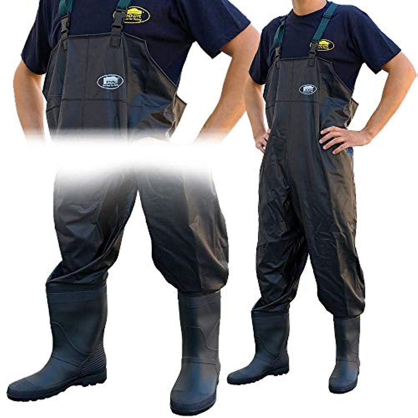 こねる微妙つばLineaeffeブラックAll Weather PVC防水Coarse Fishing Chest Waders/Wellies inサイズ7 8 9 10 11 & 12